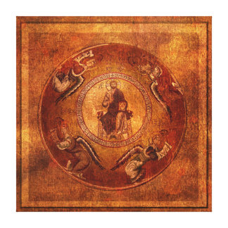 Christ Pantokrator Christian Iconography Stretched Canvas Print
