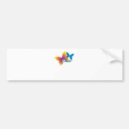Christ Papillon Bumper Sticker