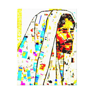 Christ Portrait - Collage - On Wrapped Canvas