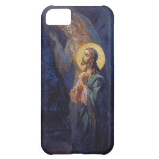 Christ praying with angel cover for iPhone 5C
