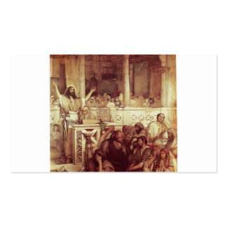 Christ Preaching at Capernaum. C. 1878-79 Business Card Templates