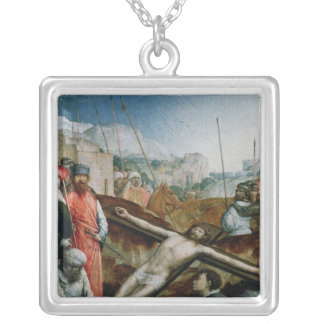 Christ Raised on the Cross, 1496-1504 Silver Plated Necklace