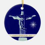Christ Rio de Janeiro Double-Sided Ceramic Round Christmas Ornament