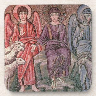 Christ Separates the Sheep from the Goats, 6th cen Coaster