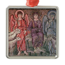 Christ Separates the Sheep from the Goats, 6th cen Metal Ornament