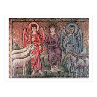 Christ Separates the Sheep from the Goats, 6th cen Postcard