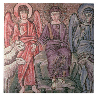 Christ Separates the Sheep from the Goats, 6th cen Tile
