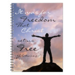 Christ Set Us Free Bible Verse Notebook