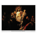 Christ Shows His Wound by Harmensz Van Rembrandt Posters