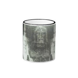 Christ - Shroud Of Turin Ringer Coffee Mug