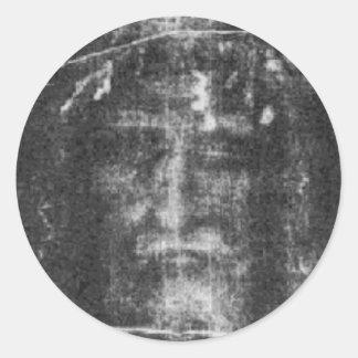 Christ - Shroud Of Turin Round Stickers