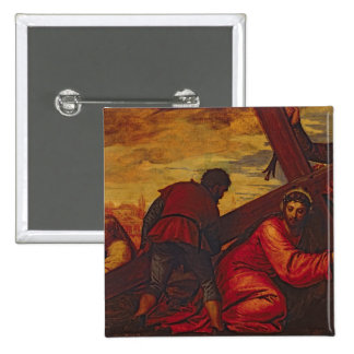 Christ Sinking under the Weight of the Cross Pinback Button