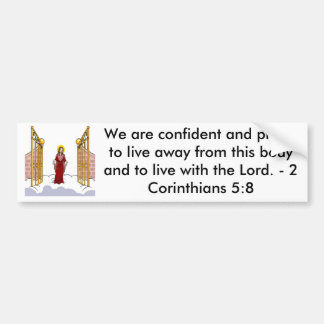 Christ Standing at the gate of Heaven Bumper Sticker