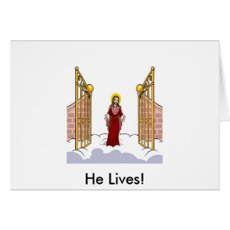 Christ Standing at the gate of Heaven Greeting Card