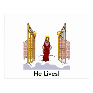 Christ Standing at the gate of Heaven Postcard