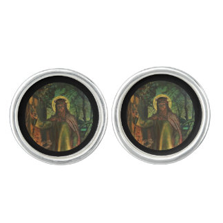 Christ Stands at Door and Knocks Cufflinks