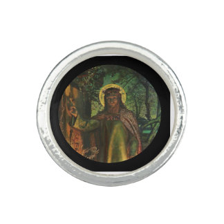 Christ Stands at Door and Knocks Photo Ring