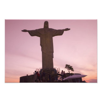 Christ Statue at Corcovado, near outskirts of Photo Print