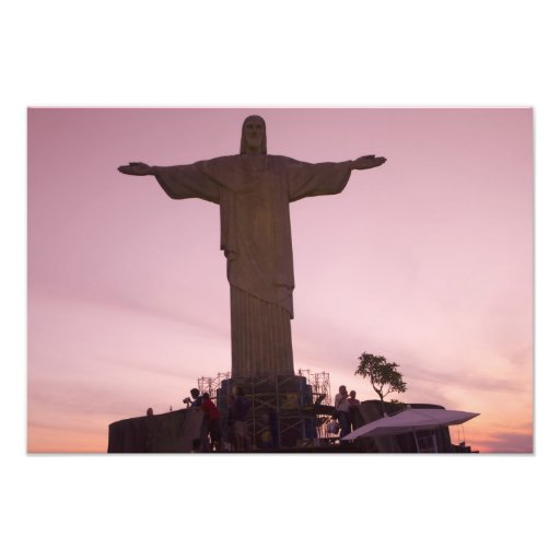 Christ Statue at Corcovado, near outskirts of Photograph