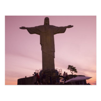Christ Statue at Corcovado, near outskirts of Postcard