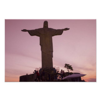 Christ Statue at Corcovado, near outskirts of Poster