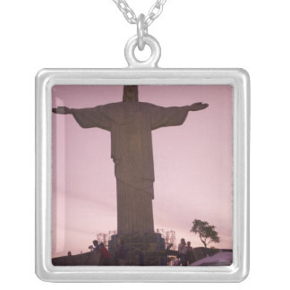 Christ Statue at Corcovado, near outskirts of Silver Plated Necklace