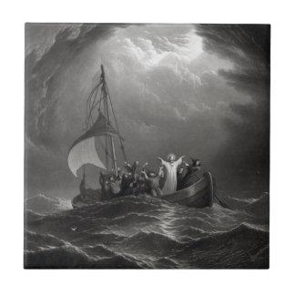 ''Christ Stills the Tempest'' ceramic tile