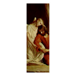 Christ suffers In Gethsemane -Bible Marker Double-Sided Mini Business Cards (Pack Of 20)