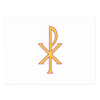 Christ Symbol Postcard