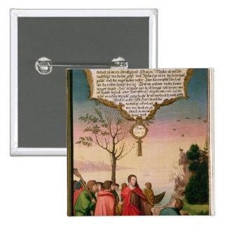 Christ teaching his disciples pinback button
