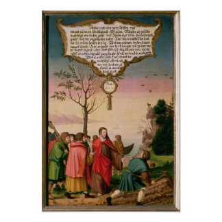 Christ teaching his disciples poster