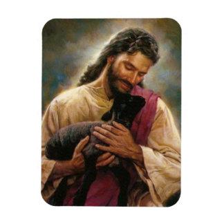 Christ The Good Shepherd Rectangular Photo Magnet