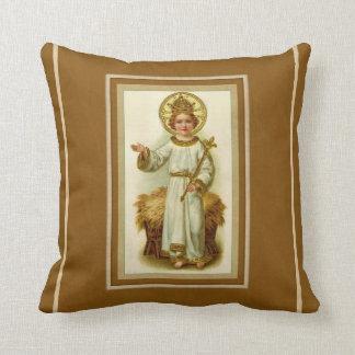 Christ the King Child Cross Manger Throw Pillow