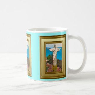 Christ the king, RIo de Janerio Classic White Coffee Mug