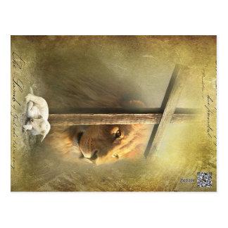 Christ the lion,the lamb of God Postcard