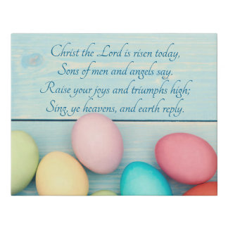 Christ the Lord Has Risen Faux Canvas Print