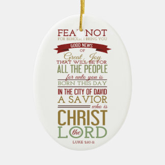 Christ the Lord Christmas Ornaments