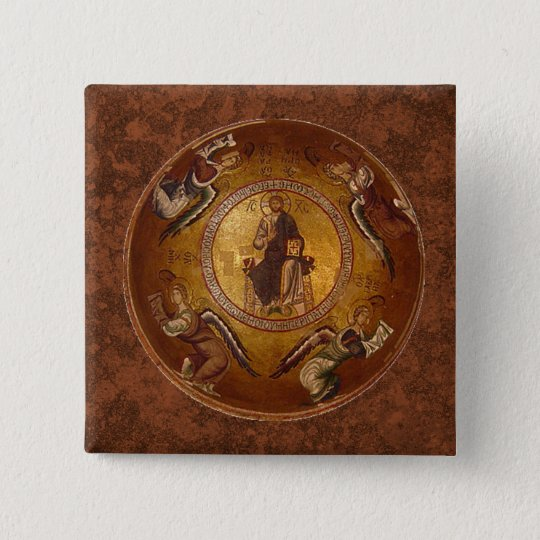 Christ the Pantakrator Christian Icon Button