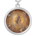 Christ the Pantakrator Christian Icon Round Pendant Necklace