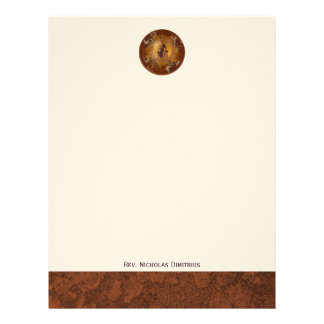 Christ the Pantakrator Christian Icon Personalized Letterhead