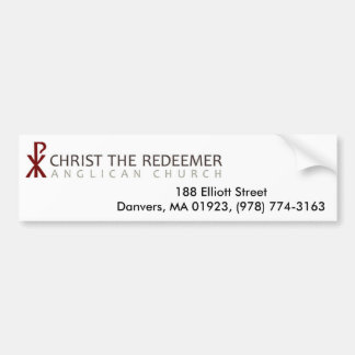 Christ The Redeemer Anglican Church Bumper Sticker
