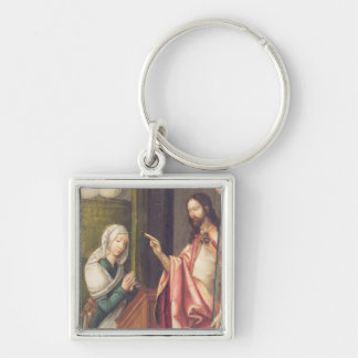 Christ the Redeemer blessing a woman (panel) Keychain