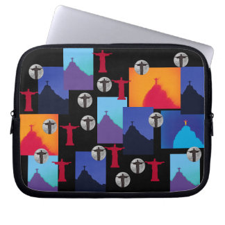 Christ the Redeemer Pattern - Rio Laptop Sleeve