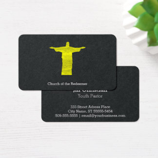 christ the redeemer silhouette business card