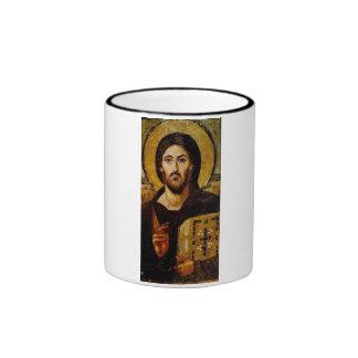 Christ the Savior Ringer Coffee Mug