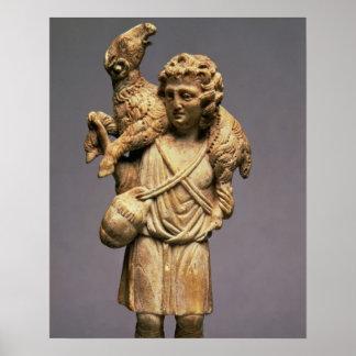 Christ the Shepherd (ivory) Poster