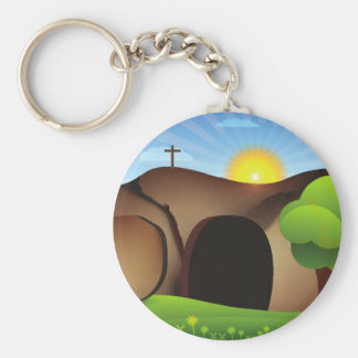 christ tomb keychain