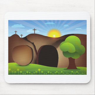 christ tomb mouse pad
