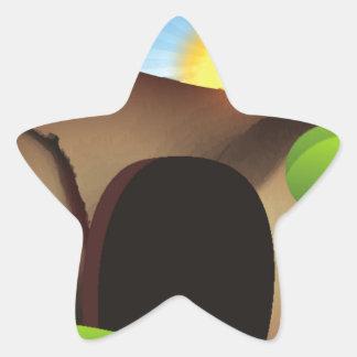 christ tomb star sticker
