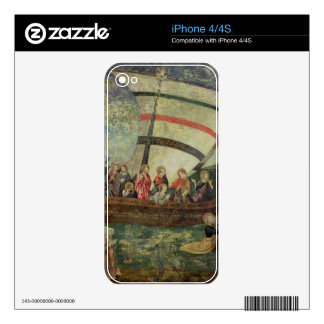 Christ walking on the water, after the 'Navicella' iPhone 4S Skins